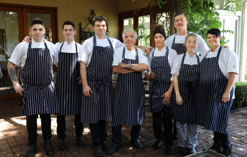 The Bistro Molines team, lead by the legendary  Robert Molines, ensuring your wedding feast is world class  (Photography on Hermitage)