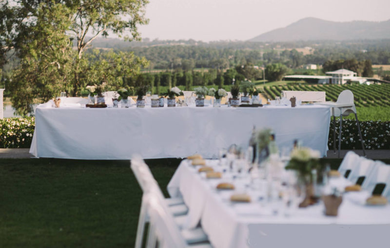 Estate Tuscany - Outdoor Weddings Looking Over the Vines