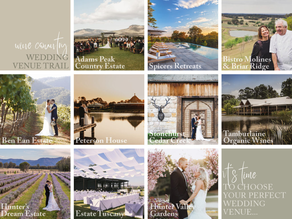 The Wine Country Wedding Trail
